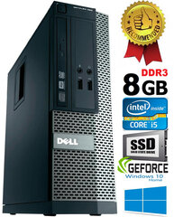 Dell Optiplex 390 i5-2400 8GB 480SSD GTX1650 4GB DVDRW Windows 10 kaina ir informacija | Dell Optiplex 390 i5-2400 8GB 480SSD GTX1650 4GB DVDRW Windows 10 | pigu.lt