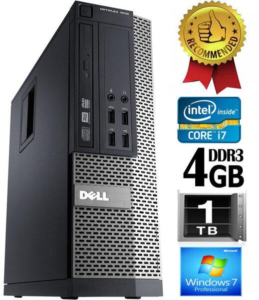 Dell Optiplex 790 i7-2600 4GB 1TB HDD Windows 7 Professional kaina ir informacija | Stacionarūs kompiuteriai | pigu.lt
