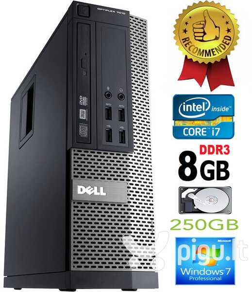 Dell Optiplex 790 i7-2600 8GB 250GB DVDRW Windows 7 Professional