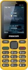 Maxcom MM139, Dual SIM, Yellow kaina ir informacija | Mobilieji telefonai | pigu.lt