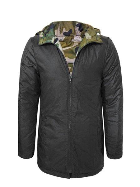 Juodos spalvos universali vyriška žieminė striukė su kailiu Give   atsiliepimas