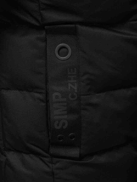 """Vyriška juoda žieminė striukė su kailiniu gobtuvu """"Gimod"""" internetu"""
