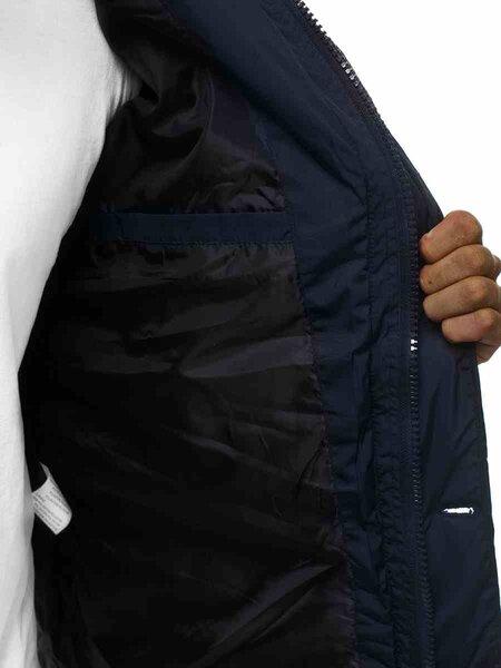 Žieminė tamsiai mėlyna vyriška striukė su gobtuvu Elder