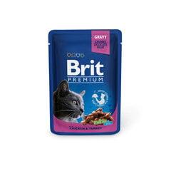 Brit Premium konservai katėms maišelyje Chicken&Turkey 100g x 24vnt kaina ir informacija | Konservai katėms | pigu.lt