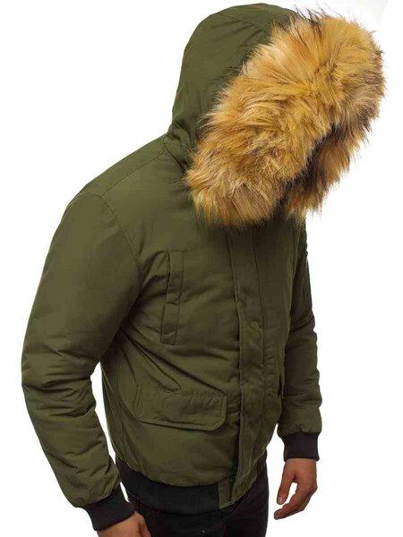 """Bomber stiliaus žieminė žalia vyriška striukė """"Lemor"""""""