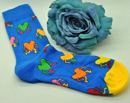 Kojinės vyrams Lucky Socks Love is VZ-1001, mėlynos kaina ir informacija | Vyriškos kojinės | pigu.lt