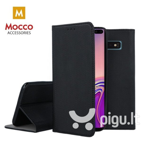 Mocco Smart Magnet Book Case, skirtas Xiaomi Note 8T, juodas