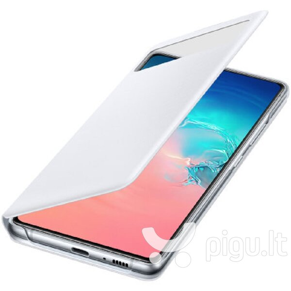 Samsung Galaxy S10 Lite S View Wallet Case White kaina ir informacija | Telefono dėklai | pigu.lt