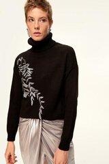 Megztinis moterims, juodas kaina ir informacija | Megztiniai moterims | pigu.lt