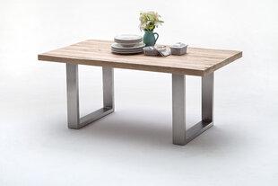 Valgomojo stalas MC Akcent Castello, 180x100 cm, baltas/sidabrinis kaina ir informacija | Virtuvės ir valgomojo stalai, staliukai | pigu.lt