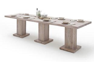 Valgomojo stalas MC Akcent Manchester, 400x120 cm, baltas kaina ir informacija | Virtuvės ir valgomojo stalai, staliukai | pigu.lt