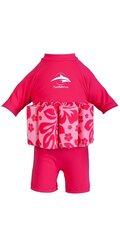 Maudymosi kostiumas T-Shirt Pink Hibiscus, 20-25 kg kaina ir informacija | Maudymukai mergaitėms | pigu.lt