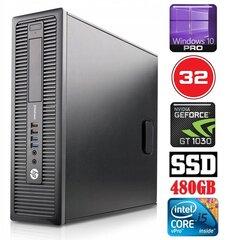 HP 600 G1 SFF i5-4570 32GB 480SSD GT1030 2GB WIN10Pro kaina ir informacija | Stacionarūs kompiuteriai | pigu.lt