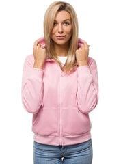 Džemperis su gobtuvu moterims Look, rožinis kaina ir informacija | Džemperiai moterims | pigu.lt