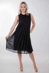 Emporio Armani klostuota berankovė suknelė, juoda kaina ir informacija | Suknelės | pigu.lt