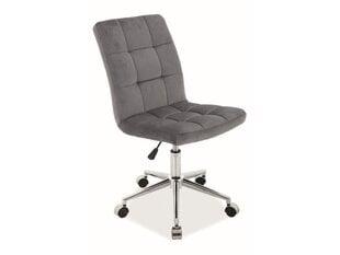 Biuro kėdė Signal Meble Q-020 Velvet, pilka kaina ir informacija   Biuro kėdė Signal Meble Q-020 Velvet, pilka   pigu.lt