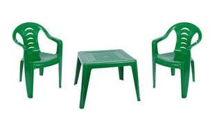 Vaikiškas staliukas su kėdutėmis Oler, žalias kaina ir informacija | Vaikiški lauko baldai | pigu.lt