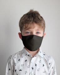 Daugkartinė vaikiška veido kaukė, juoda kaina ir informacija | Pirmoji pagalba | pigu.lt