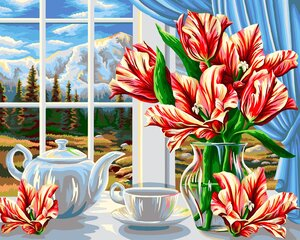 Картина - раскраска по номерам, B084 цена и информация | Картины по номерам | pigu.lt