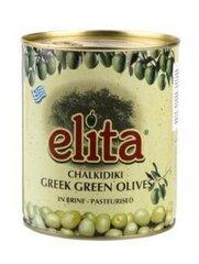Оливки ELITA зеленые без косточек, размер L, 850 г / 400 г цена и информация | Консервы | pigu.lt