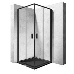 Dušo kabina Rea Punto su padėklu 80x80, 90x90 cm, black mat kaina ir informacija | Dušo kabinos | pigu.lt