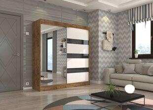 Шкаф Adrk Furniture Toura 200 см, коричневый/белый цена и информация | Шкафы | pigu.lt