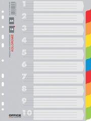 Skiriamieji lapai A4, spalvotas kartonas, 1-10 kaina ir informacija | Skiriamieji lapai A4, spalvotas kartonas, 1-10 | pigu.lt
