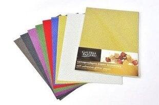 Lipnus, blizgus, spalvotas popierius, A4, 10 lapų цена и информация | Тетради и бумажные товары | pigu.lt