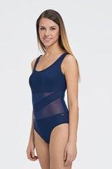 Vientisas maudymosi kostiumėlis su tinklelio įsiuvu kaina ir informacija | Maudymosi kostiumėliai | pigu.lt
