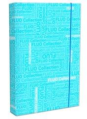 Aplankas Fluo 32x23x3 cm, mėlynas цена и информация | Тетради и бумажные товары | pigu.lt