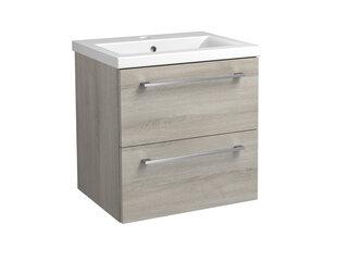 Apatinė vonios spintelė RB Bathroom Scandic su praustuvu 51 cm, pilka kaina ir informacija | Apatinė vonios spintelė RB Bathroom Scandic su praustuvu 51 cm, pilka | pigu.lt