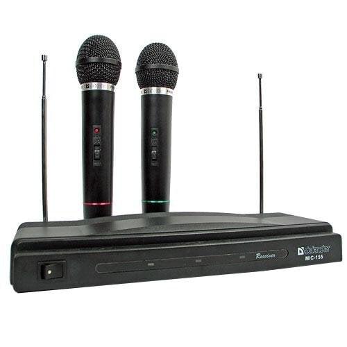 Belaidžių mikrofonų komplektas Defender MIC-155 kaina ir informacija | Ausinės, mikrofonai | pigu.lt