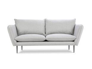 Dvivietė sofa Mazzini Sofas Verveine, sidabrinės spalvos/juoda kaina ir informacija | Dvivietė sofa Mazzini Sofas Verveine, sidabrinės spalvos/juoda | pigu.lt