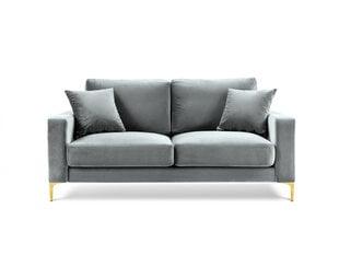Dvivietė aksominė sofa Kooko Home Poeme, šviesiai pilka kaina ir informacija | Dvivietė aksominė sofa Kooko Home Poeme, šviesiai pilka | pigu.lt