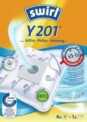 Dulkių maišeliai Melitta SWIRL Y201/4 MP1, 4 vnt + universalus oro filtras