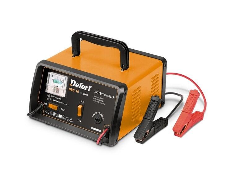 Naujos kartos akumuliatorių kroviklis Defort DBC-10 kaina ir informacija | Akumuliatorių krovikliai | pigu.lt