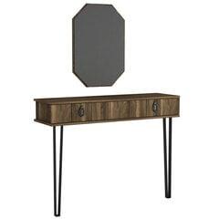 Комплект консоли и зеркала Kalune Design Lost Aynali, коричневый цена и информация | Столы-консоли | pigu.lt