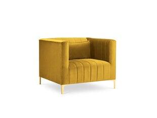 Fotelis Micadoni Home Annite, geltonos/auksinės spalvos kaina ir informacija | Svetainės foteliai | pigu.lt