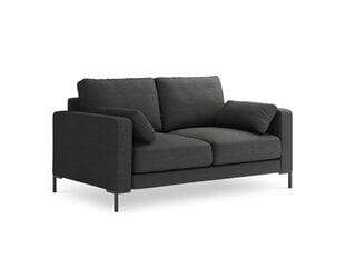 Sofa Micadoni Home Jade 2S, tamsiai pilkas gobelenas kaina ir informacija | Sofa Micadoni Home Jade 2S, tamsiai pilkas gobelenas | pigu.lt