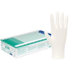 Vienkartinės nitrilo (nitrilinės) pirštinės BBraun Vasco Nitril white (be pudros) XS dydis, baltos, 100 vnt. kaina ir informacija | Pirmoji pagalba | pigu.lt