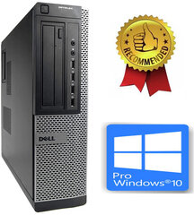 Dell 790 DT i5-2400S 16GB 480GB SSD 2TB HDD GTX1650 4gb DVDRW Windows 10 Pro kaina ir informacija | Stacionarūs kompiuteriai | pigu.lt