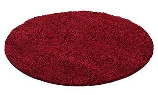 Apvalus NORE Shaggy kilimas Red, 200x200 cm kaina ir informacija | Kilimai | pigu.lt