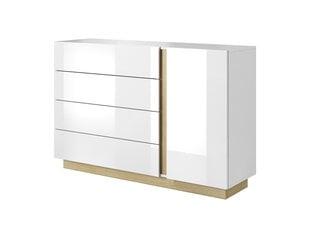 Komoda Laski Meble Arco M, balta/ruda kaina ir informacija | Komoda Laski Meble Arco M, balta/ruda | pigu.lt