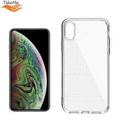 "TakeMe ""Clear"" series Transparent 2mm thin back cover case for Apple iPhone Xs Max kaina ir informacija 