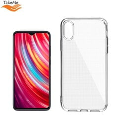 "TakeMe ""Clear"" series Transparent 2mm thin back cover case for Xiaomi Redmi Note 8 Pro kaina ir informacija 