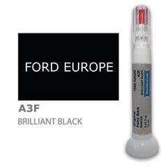 Карандаш-корректор для устранения царапин FORD EUROPE A3F - BRILLIANT BLACK 12 ml цена и информация   Автомобильная краска   pigu.lt