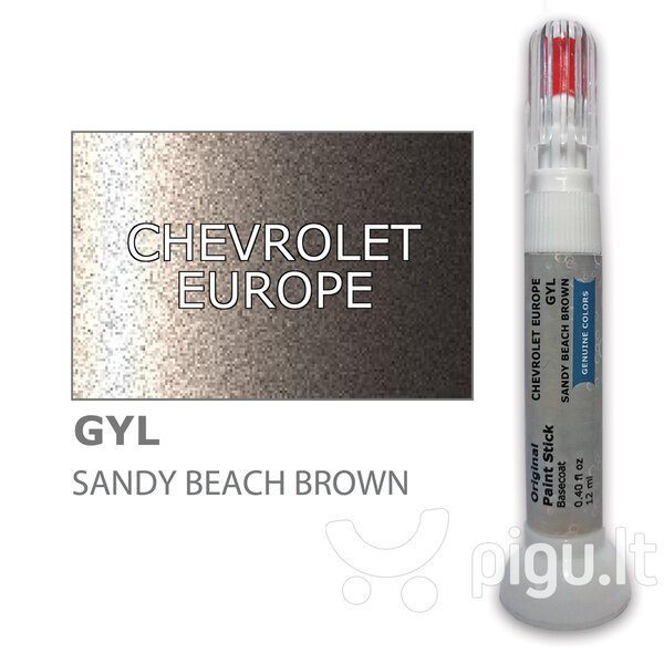 Dažų korektorius įbrėžimų taisymui CHEVROLET EUROPE GYL - SANDY BEACH BROWN 12 ml