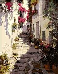 Набор для рисования по номерам «Улица в Греции» цена и информация | Живопись по номерам | pigu.lt