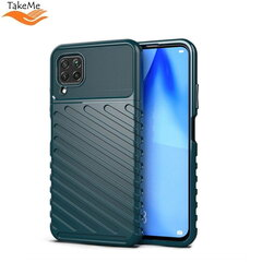 TakeMe Thunder TPU super thin back cover case for Huawei P40 Lite Dark green kaina ir informacija | Telefono dėklai | pigu.lt