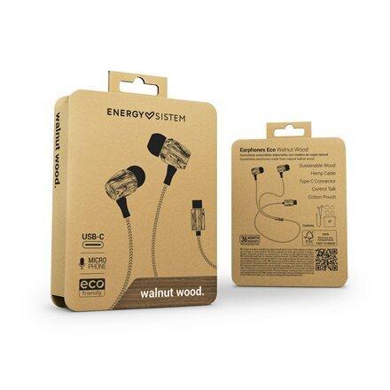 Laidinės ausinės Energy Sistem Earphones Eco Walnut Wood